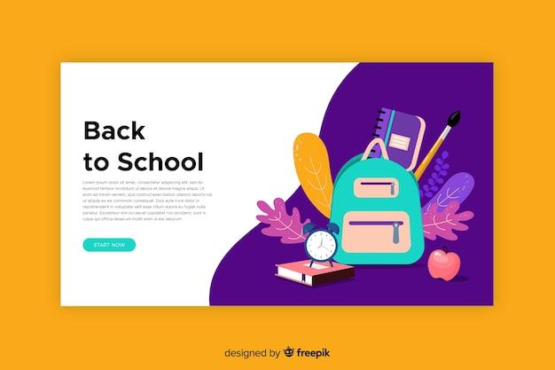 Retour à la page d'accueil de l'école Vecteur gratuit