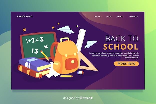 Retour à la page d'accueil de l'école Vecteur Premium