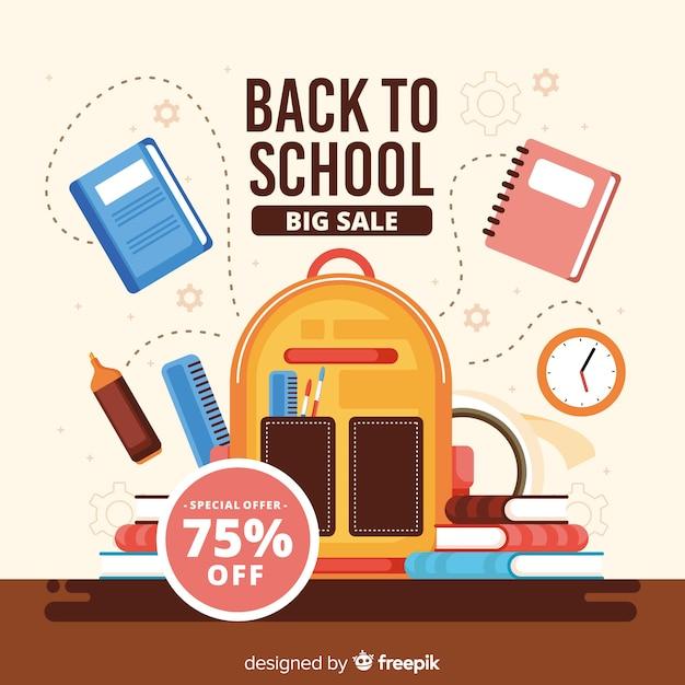 Retour à la vente de l'école Vecteur gratuit