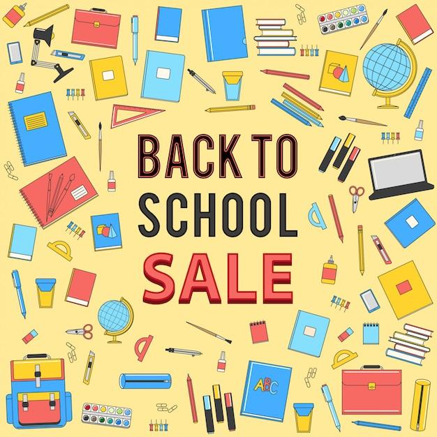 Retour à la vente de l'école Vecteur Premium