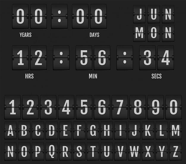 Retourner Le Calendrier Et Le Minuteur D'horloge De Table. Vecteur Premium