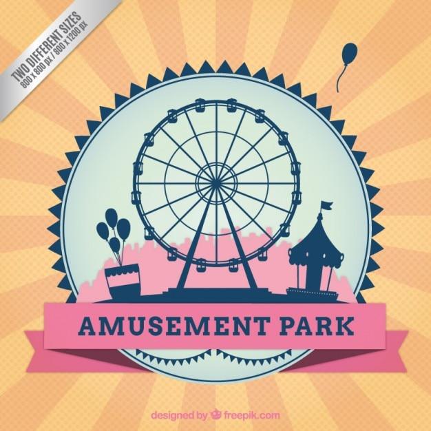 Rétro Amusement Parc Fond Vecteur gratuit