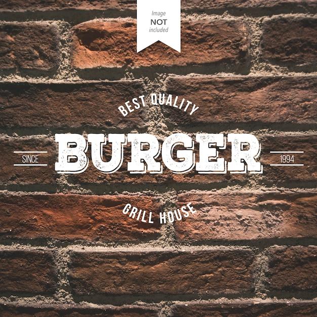 Retro Burger Logo Vecteur gratuit