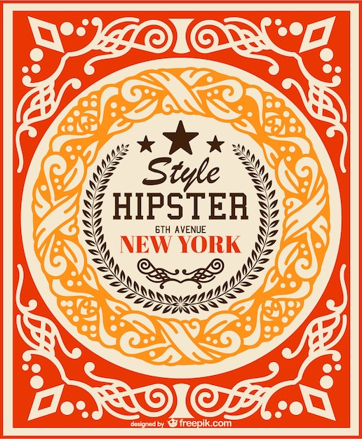 Rétro Hippie Vecteur De Fond Vecteur gratuit