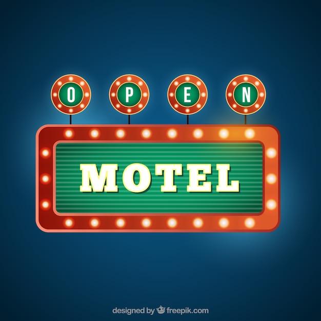 Rétro motel bannière Vecteur gratuit