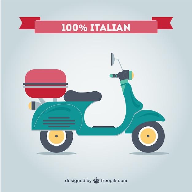 Rétro moto italien vecteur libre Vecteur gratuit