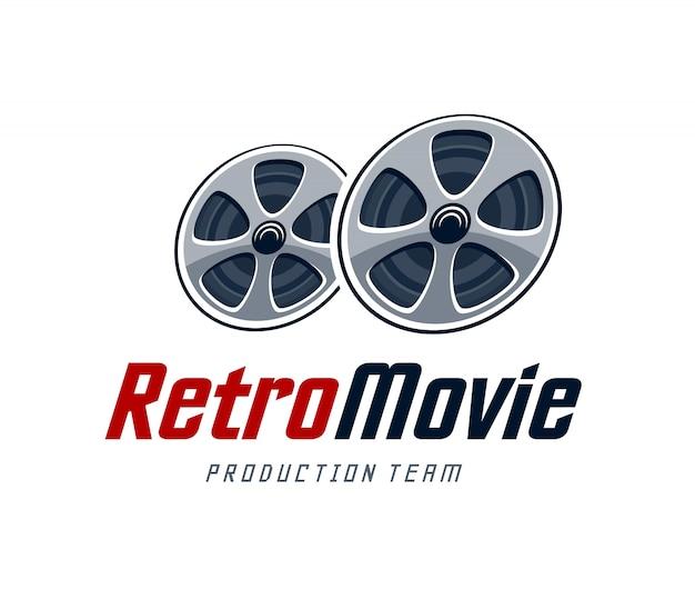 Retro Movie Logo Vecteur gratuit