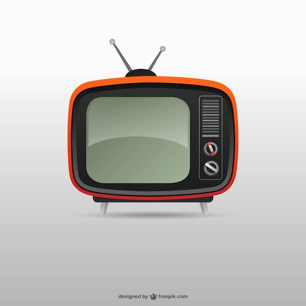 Retro Tv Vecteur Premium
