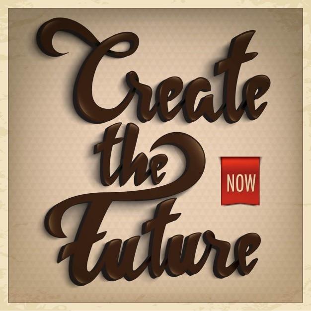 Retro vintage typographie Vecteur gratuit