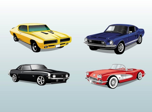 r tro voitures automobiles vecteur de tour t l charger des vecteurs gratuitement. Black Bedroom Furniture Sets. Home Design Ideas