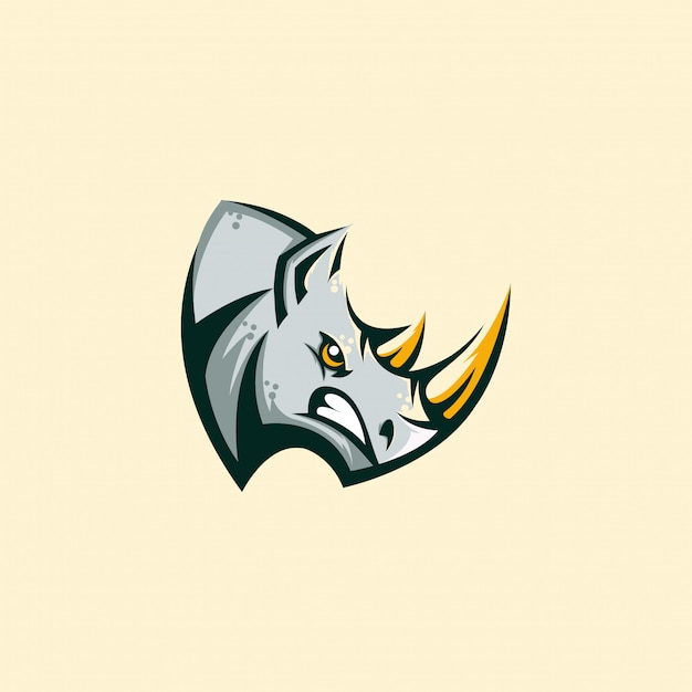 Rhino en colère concept illustration Vecteur Premium