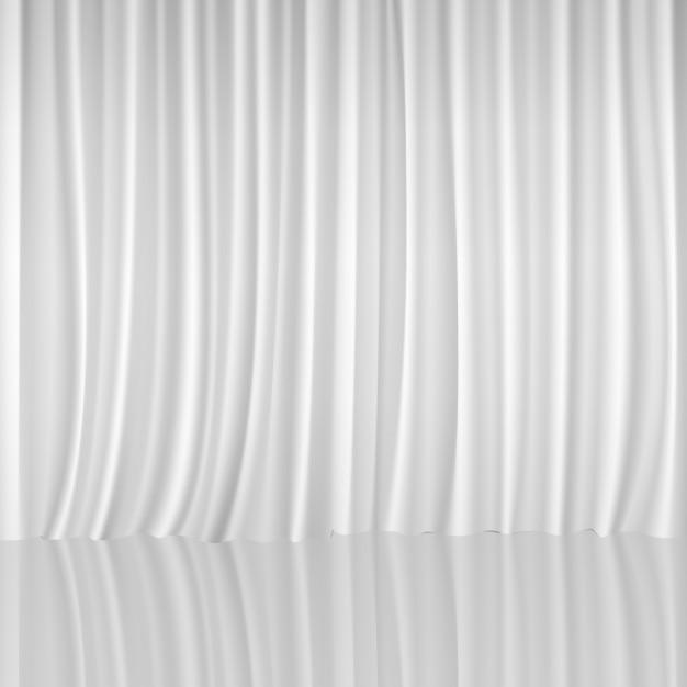 Rideau blanc fond Vecteur gratuit