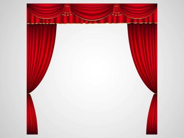 Rideaux de sc ne en rouge t l charger des vecteurs gratuitement - Location de rideaux de scene ...