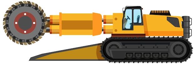 Roadheader D'extraction De Charbon Isolé Vecteur gratuit