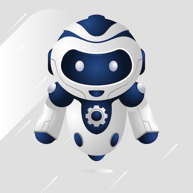 Robot Bleu Vecteur Premium