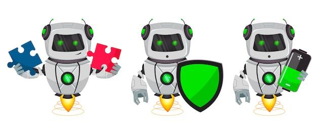 Robot avec intelligence artificielle Vecteur Premium