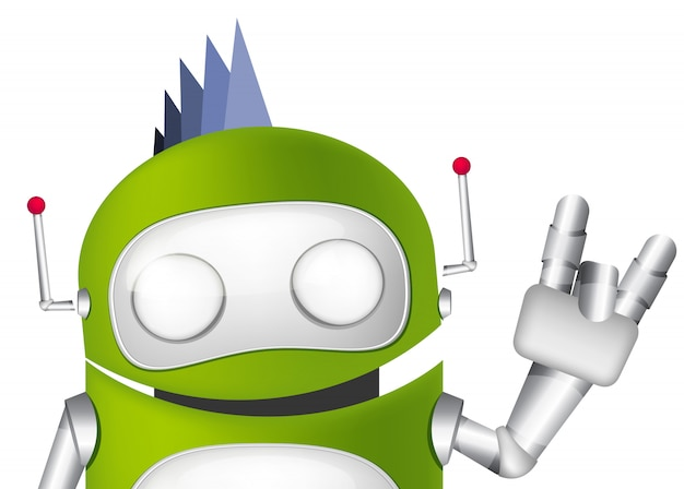 Robot mignon Vecteur Premium