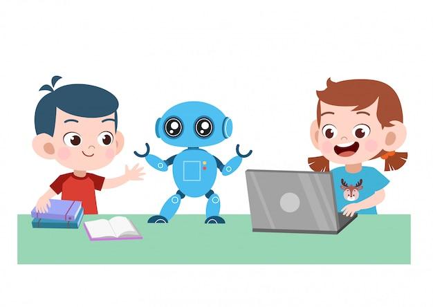 Robot Portable Pour Enfants Vecteur Premium