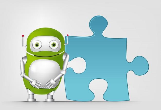 Robot vert Vecteur Premium