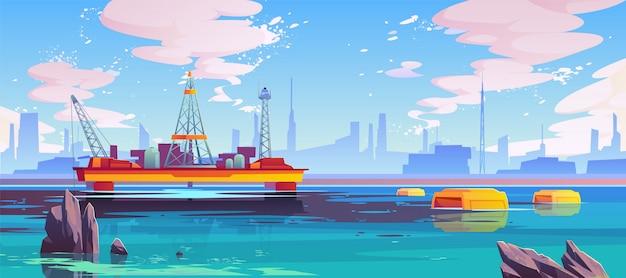 Des robots bio-nettoyeurs à la mer Vecteur gratuit