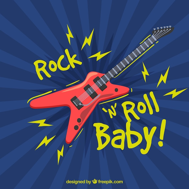 Rock and roll background Vecteur gratuit