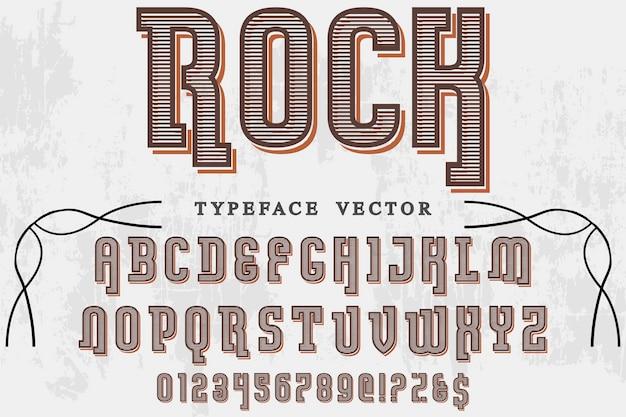 Rock design rock étiquette Vecteur Premium
