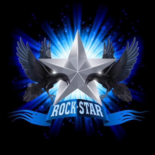 Rock Star Vecteur Premium