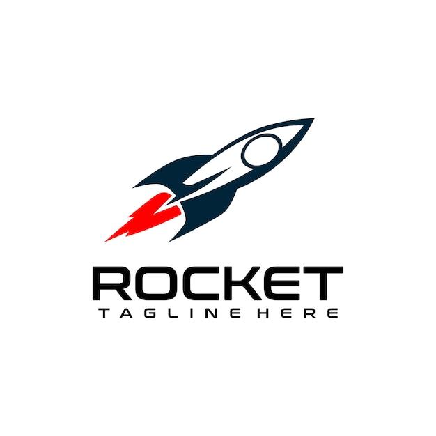 Rocket Logo Vecteur Premium