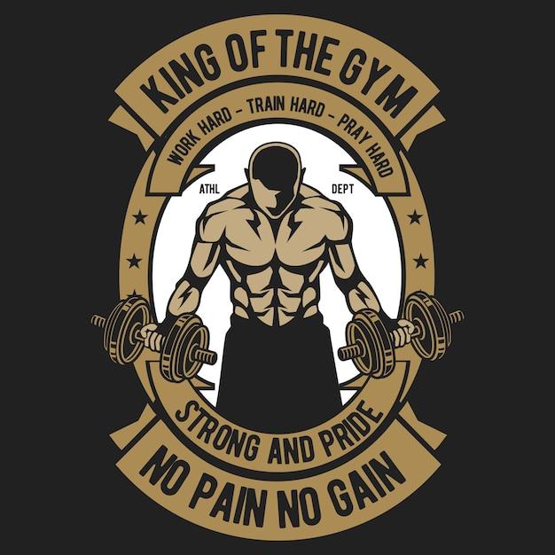 Roi de la gym Vecteur Premium