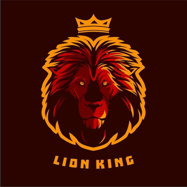 Roi lion illustrations vectorielles Vecteur Premium