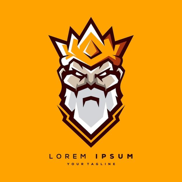 Roi logo vectoriel Vecteur Premium