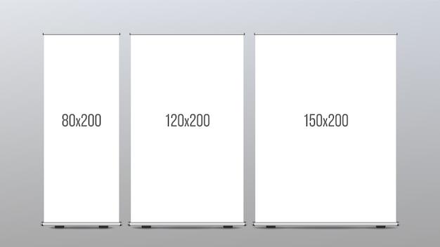 Roll up banner stand Vecteur Premium