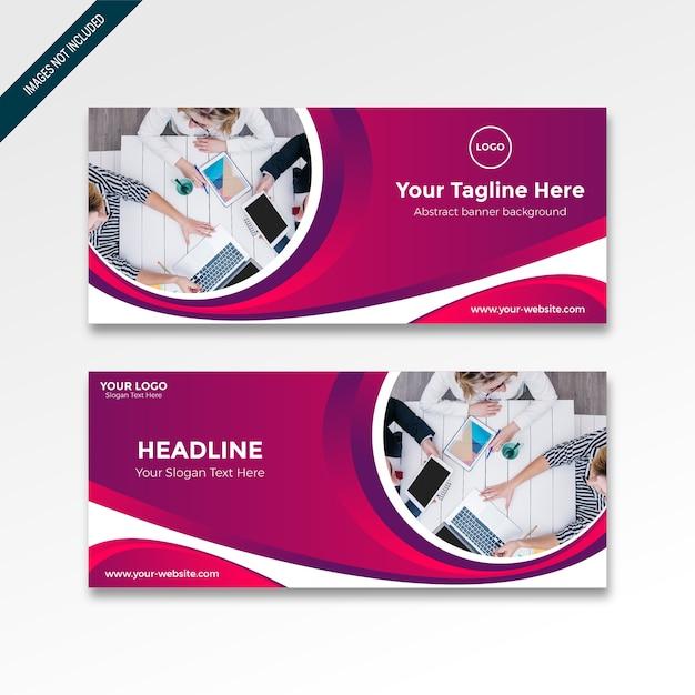 Roll up banner with gradient moderne Vecteur Premium