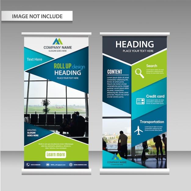 Roll up layout design template. Vecteur Premium