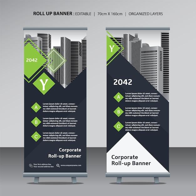 Roll up modèle de conception pour les entreprises Vecteur Premium