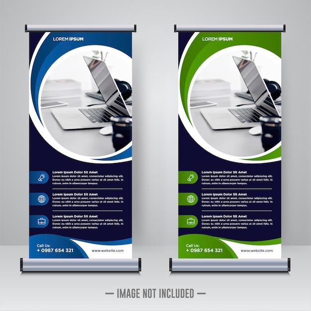 Rollup D'entreprise Ou Modèle De Conception De Bannière X Vecteur Premium