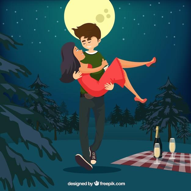 Romantic couple illustration | Télécharger des Vecteurs ...