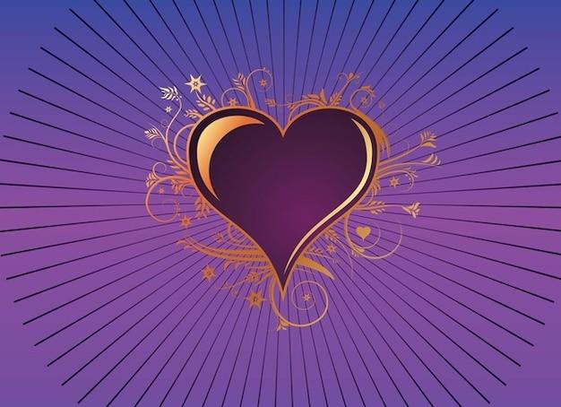 Romantique vecteur violet mariage de coeur d 39 amour - Photo de coeur d amour ...