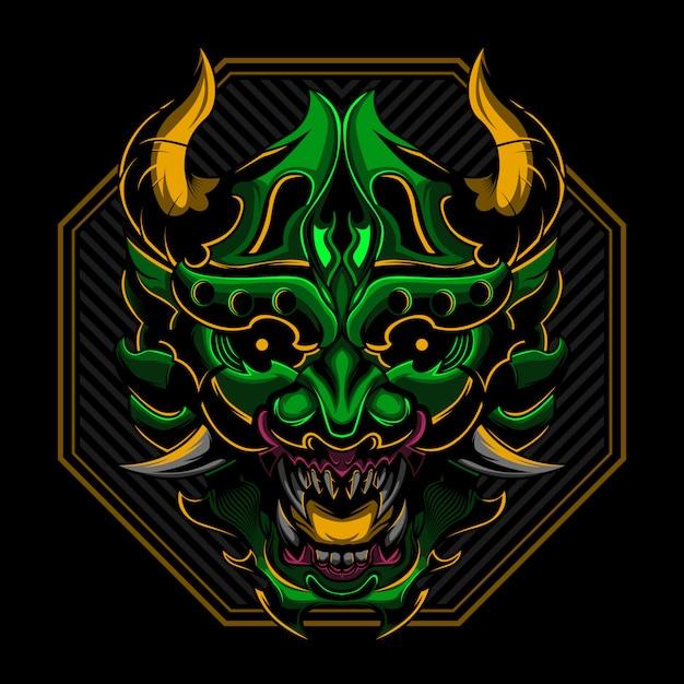 Ronin samurai illustration vectorielle en colère Vecteur Premium