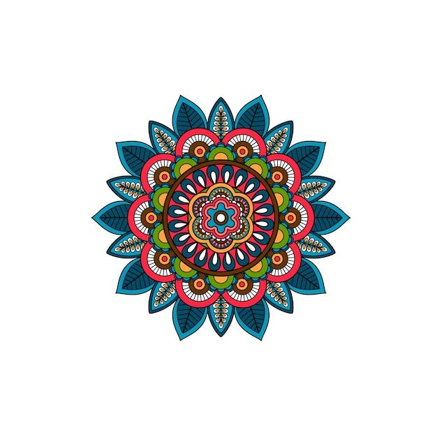 Rosace décorative d'ornement de mandala tribal Vecteur Premium