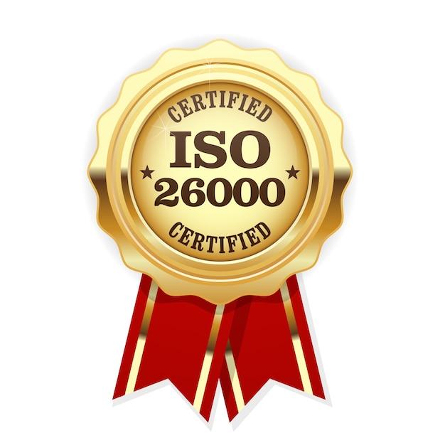 Rosace Standard Iso - Responsabilité Sociale Vecteur Premium