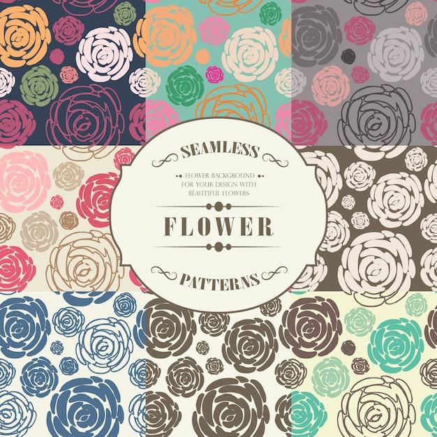 Roses de modèle sans couture Vecteur Premium