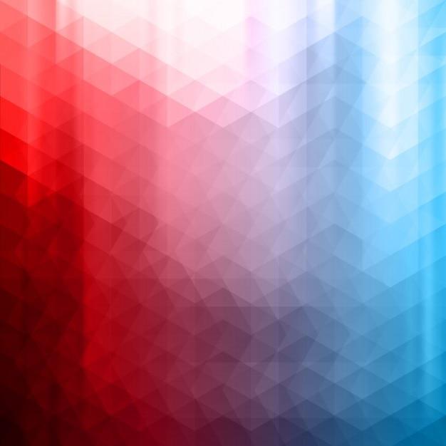 Rouge et bleu fond polygonale Vecteur gratuit