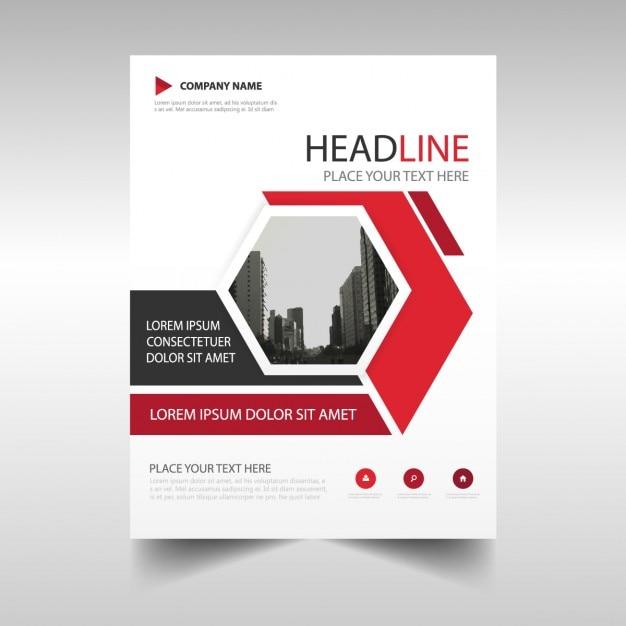 Rouge créative rapport annuel modèle de couverture du livre Vecteur gratuit