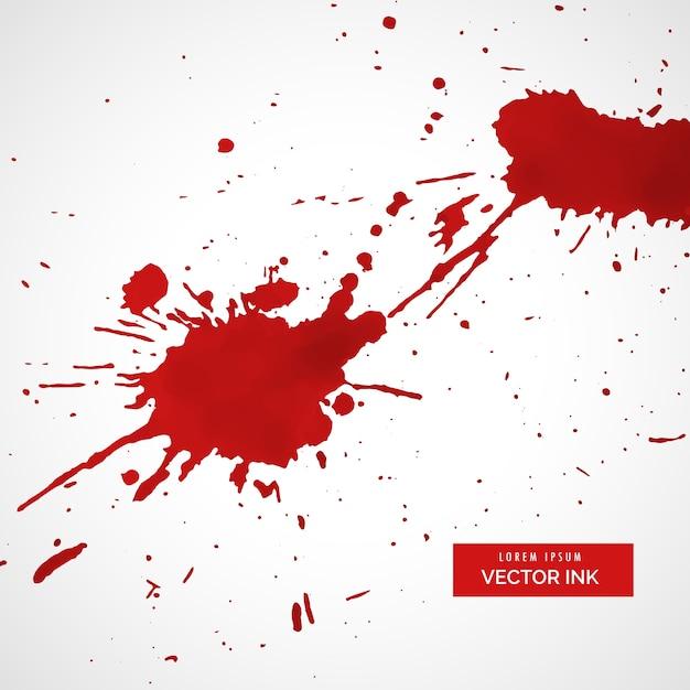 Rouge encre splatter texture tache fond Vecteur gratuit