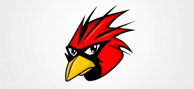 Rouge illustration vectorielle oiseau Vecteur gratuit