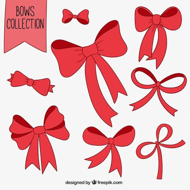 Rouge Incline Collection Vecteur gratuit