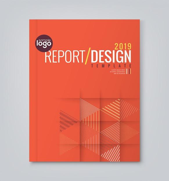 Rouge Minimal Triangle Géométrique Formes Conception Arrière-plan Pour Entreprise Annuaire Livre Livre Couverture Brochure Flyer Poster Vecteur gratuit