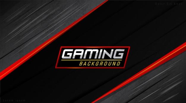 Rouge et noir modernes fond de gamers Vecteur Premium