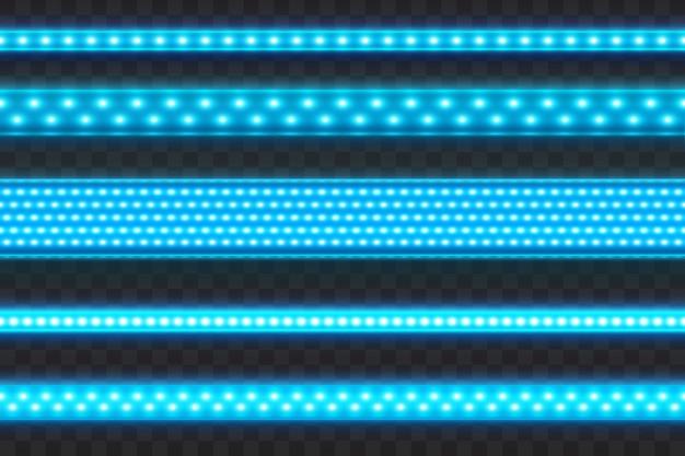 Rougeoyant led bleu rayures sans soudure Vecteur Premium
